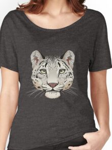 Snow Leopard Face Women's Relaxed Fit T-Shirt