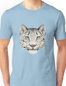 Snow Leopard Face Unisex T-Shirt