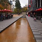 City Square looking towards Collins Street Melbourne Victoria Australia by Margaret Morgan (Watkins)