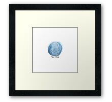 THE MOON Tarot Card Illustration Framed Print