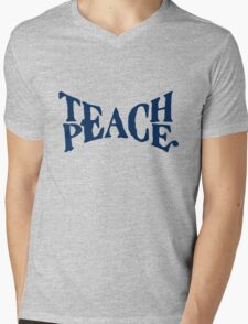 TEACH PEACE VINTAGE Mens V-Neck T-Shirt