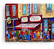 SCHWARTZ'S DELI SMOKED MEAT SANDWICHES MONTREAL Canvas Print