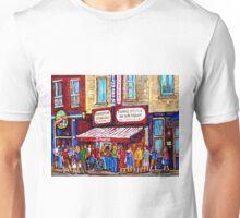 SCHWARTZ'S DELI SMOKED MEAT SANDWICHES MONTREAL Unisex T-Shirt