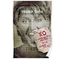 Donald J. Trump presidential debates strategy ideas. Poster