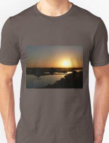 Salt lakes sunrise Unisex T-Shirt