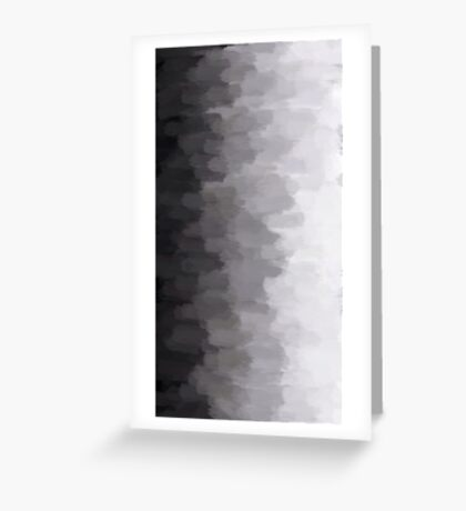 Grey Scale Smudge Greeting Card