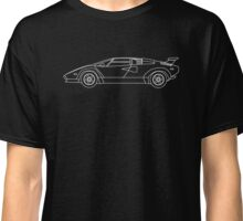 Lamborghini Countach Blueprint  Classic T-Shirt
