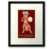Rob Gamble's and Shawn Mahoney's Bacon Cheese Burger Sausage copy right 2015 Framed Print