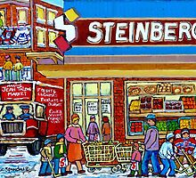 VINTAGE STEINBERG SUPER MARKET MONTREAL MEMORIES CANADIAN ART by Carole  Spandau