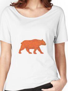 American Black Bear Walking Side Retro Women's Relaxed Fit T-Shirt