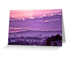 West La Sunset Greeting Card