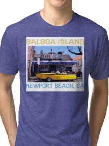 Balboa Island Boat Car- Newport Beach Tri-blend T-Shirt