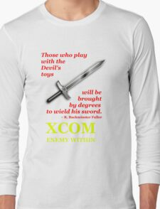 XCOM Enemy Within Opening Quote Long Sleeve T-Shirt