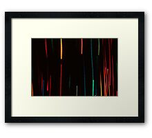 Abstract Motion Lights Framed Print