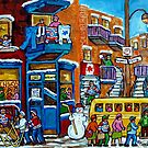 WILENSKY'S LUNCH COUNTER MONTREAL WINTER FUN IN NEIGHBORHOOD CANADIAN ART by Carole  Spandau