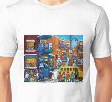 WILENSKY'S LUNCH COUNTER MONTREAL WINTER FUN IN NEIGHBORHOOD CANADIAN ART Unisex T-Shirt