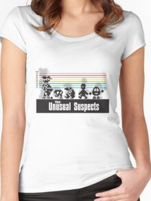 The second Unusual Suspects. Women's Fitted Scoop T-Shirt