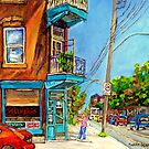 WILENSKY'S RESTAURANT IN THE SUMMER MONTREAL ART CANADIAN PAINTINGS by Carole  Spandau
