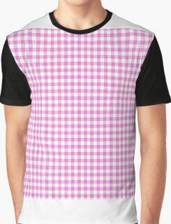 PinkGingham(50x50) template Graphic T-Shirt