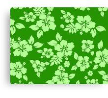 Green Hawaiian Canvas Print