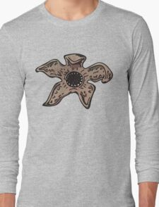 Stranger things demogorgon monster head Long Sleeve T-Shirt