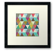 New York Beauty triangles Framed Print