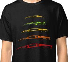 Lamborghini V12 Generations Silhouettes Classic T-Shirt