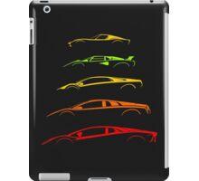 Lamborghini V12 Generations Silhouettes iPad Case/Skin