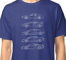 Lamborghini V12 Generations Blueprints Classic T-Shirt