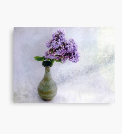 Lilac Time Still Life Canvas Print