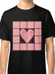 Pink Polka Dot Heart  Classic T-Shirt
