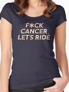 F*CK CANCER, LETS RIDE - ORANGE/BLACK Women's Fitted Scoop T-Shirt