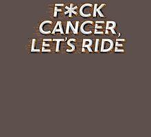 F*CK CANCER, LETS RIDE - ORANGE/BLACK Mens V-Neck T-Shirt