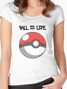Pokeball is life! Women's Fitted Scoop T-Shirt
