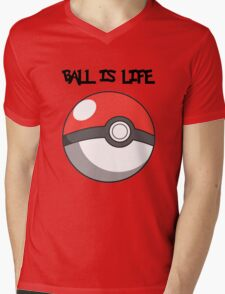 Pokeball is life! Mens V-Neck T-Shirt