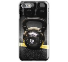 50 LBS Barbell Weight: For Strong People iPhone Case/Skin