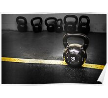 50 LBS Barbell Weight: For Strong People Poster