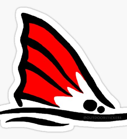 Red Fish Tail Red Sticker