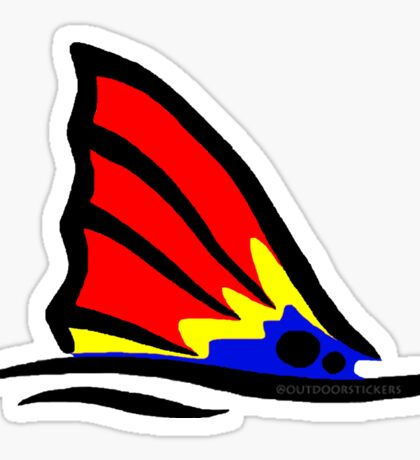 Red Fish Tail Colorful Sticker