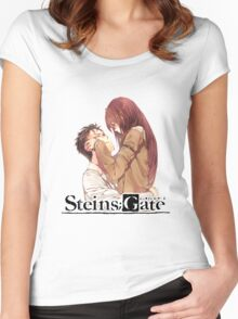 stiens;gate chubby cheeks  Women's Fitted Scoop T-Shirt