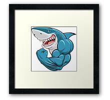 Shark Muscle Framed Print