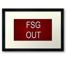 FSG OUT RED Framed Print