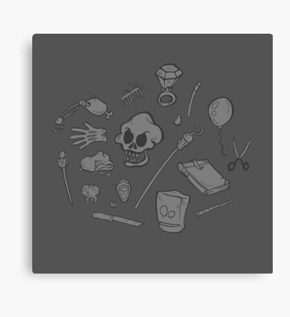 The Curse of Monkey Island Inventory (gray) Canvas Print