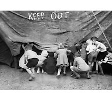 Keep Out - Vintage Photograph Photographic Print