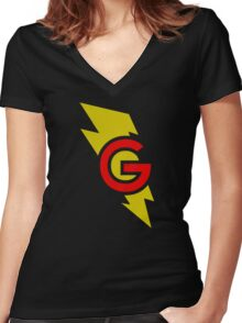 Super Grover Women's Fitted V-Neck T-Shirt