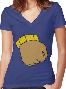 Arthur's Fist Women's Fitted V-Neck T-Shirt