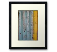 abstract grunge wood texture background Framed Print