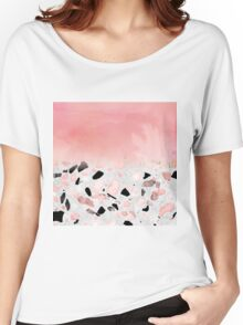 Modern abstract watercolor and marble design Women's Relaxed Fit T-Shirt