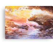 Watercolor Sky No 1 Canvas Print