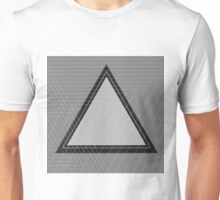 Grey Scale Triangle Unisex T-Shirt